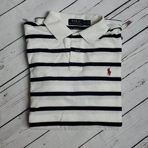 Polo by Ralph lauren white/navy stripes sz L